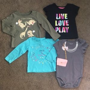 Bundle of 4 Tees Size 18-24months
